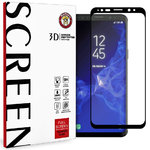 3D Full Tempered Glass Screen Protector for Samsung Galaxy S9 - Black